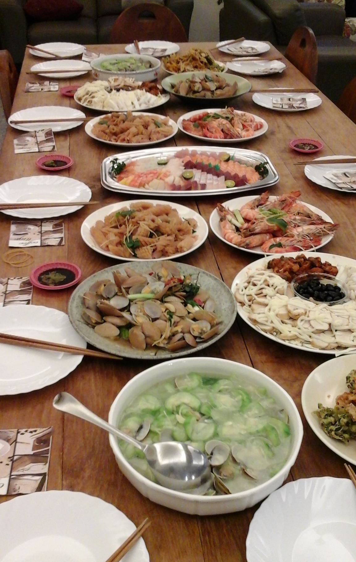 Taiwanesisches Seafood Buffet